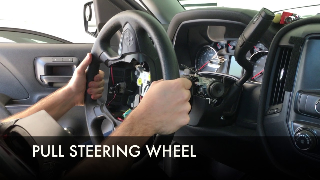 How to Remove and Replace 2014+ Silverado Steering Wheel ...