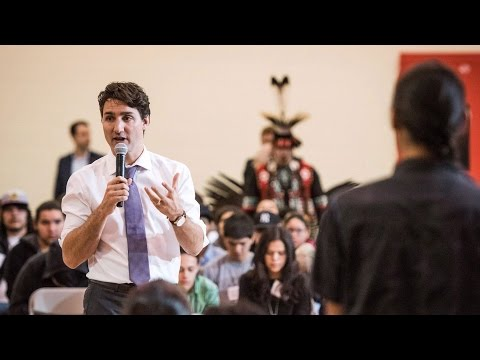'Renewed respect:' PM Trudeau speaks to Aboriginal youth