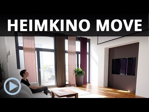 Heimkino Move   How To Hide The Whole Home Theater Equipment In A Living  Room