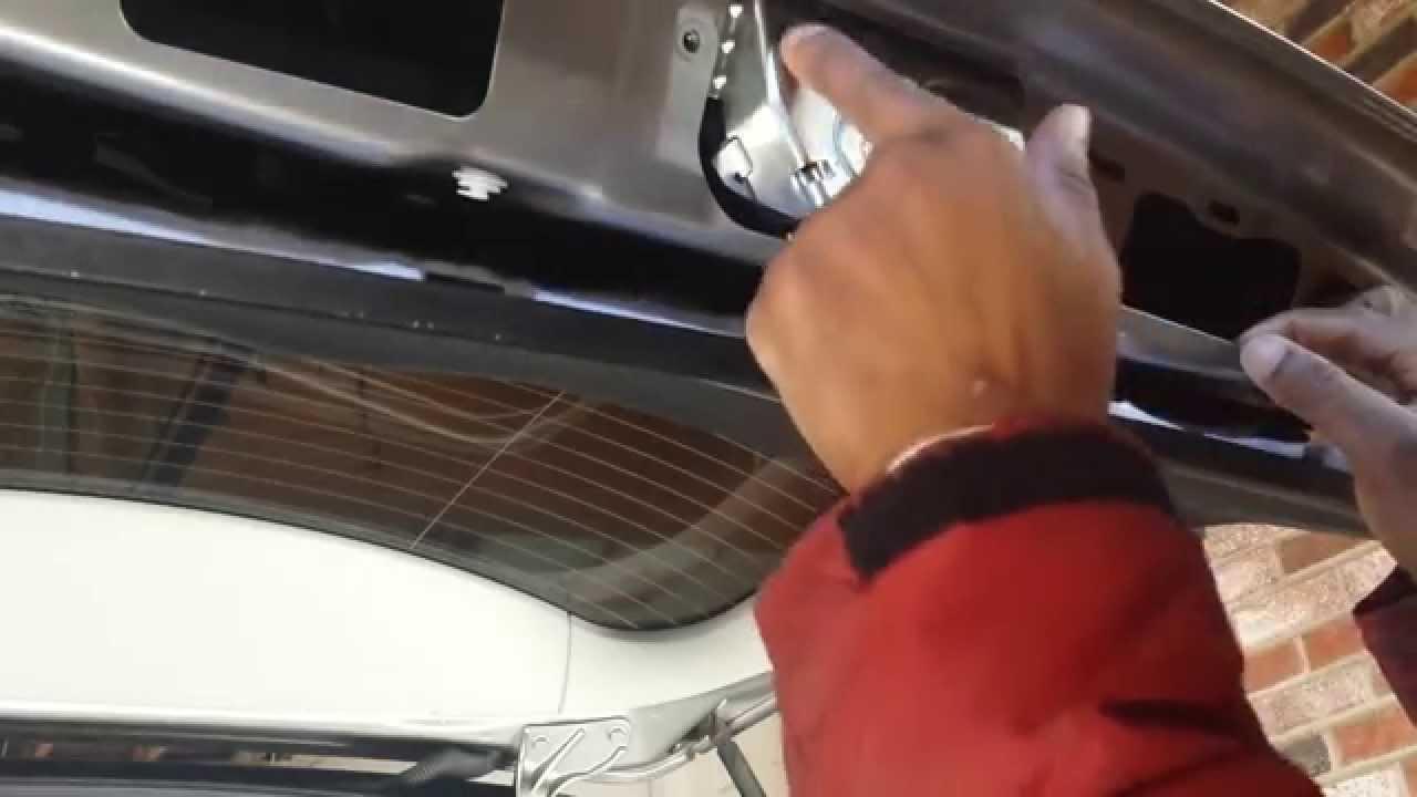 mercedes trunk actuator lock replacement diy how to fix car door latch youtube [ 1280 x 720 Pixel ]
