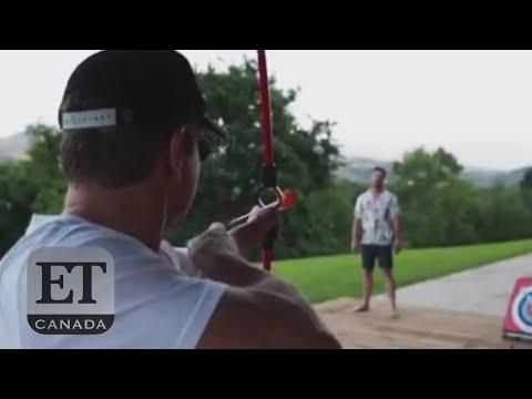 Chris Hemsworth Catches Matt Damon's Arrow
