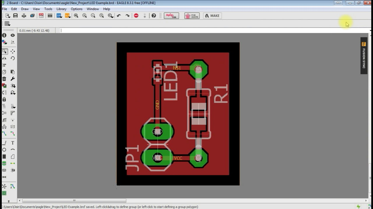 How To Generate Gerber Files For Pcb Manufacture Design The Novice Guide Designing Printed Circuit Boards By Solutions Example Part 2