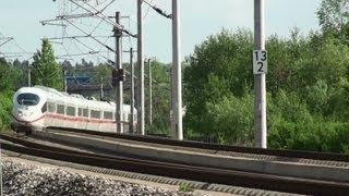 German High Speed Train ICE NBS SFS Nürnberg-München,Feste Fahrbahn
