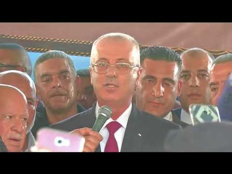 Palestinian Prime Minister Hamdallah on historic visit to Gaza