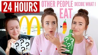 Letting OTHER PEOPLE Decide What I EAT For 24 HOURS... | Sophie Louise