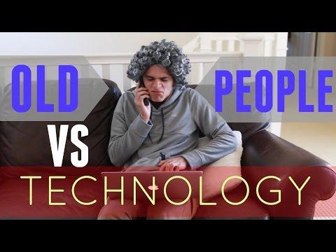 Old People VS Technology   Brent Rivera