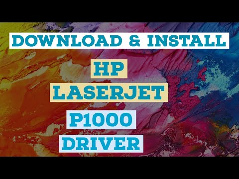 HOW TO DOWNLOAD AND INSTALL HP LASERJET P1000 PRINTER DRIVER ON WINDOWS 10, WINDOWS 7 AND WINDOWS 8