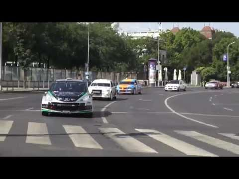 Rally car taxi service at Le Meridien Budapest