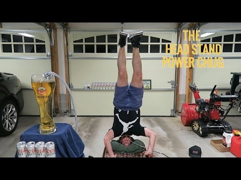 Doing A Head Stand While Consuming The World's Largest Beer Using A Power Drill | L.A. BEAST