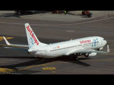 Air Europa Boeing 737, Pushback and Taxi    Milano Malpensa