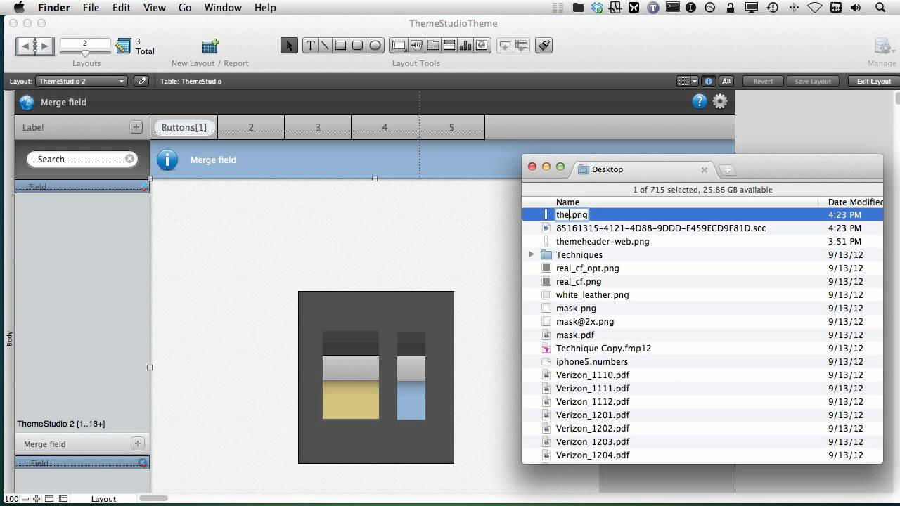 FileMaker Themes Help - Theme Studio Theme