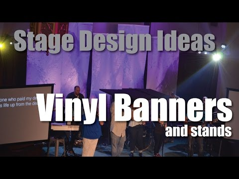 Church Stage Design Ideas : Vinly \'Banners\' and stands