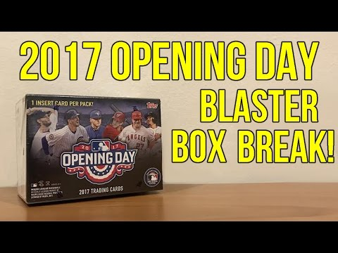 Topps Baseball 2017 - Opening Day - Blaster Box Break!