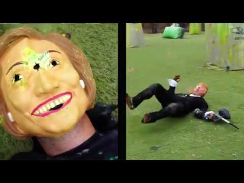 Hillary Clinton vs. Donald Trump Paintball Politics