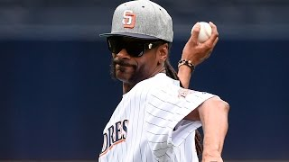 Snoop Dogg Throws Terrible First Pitch at Padres Games