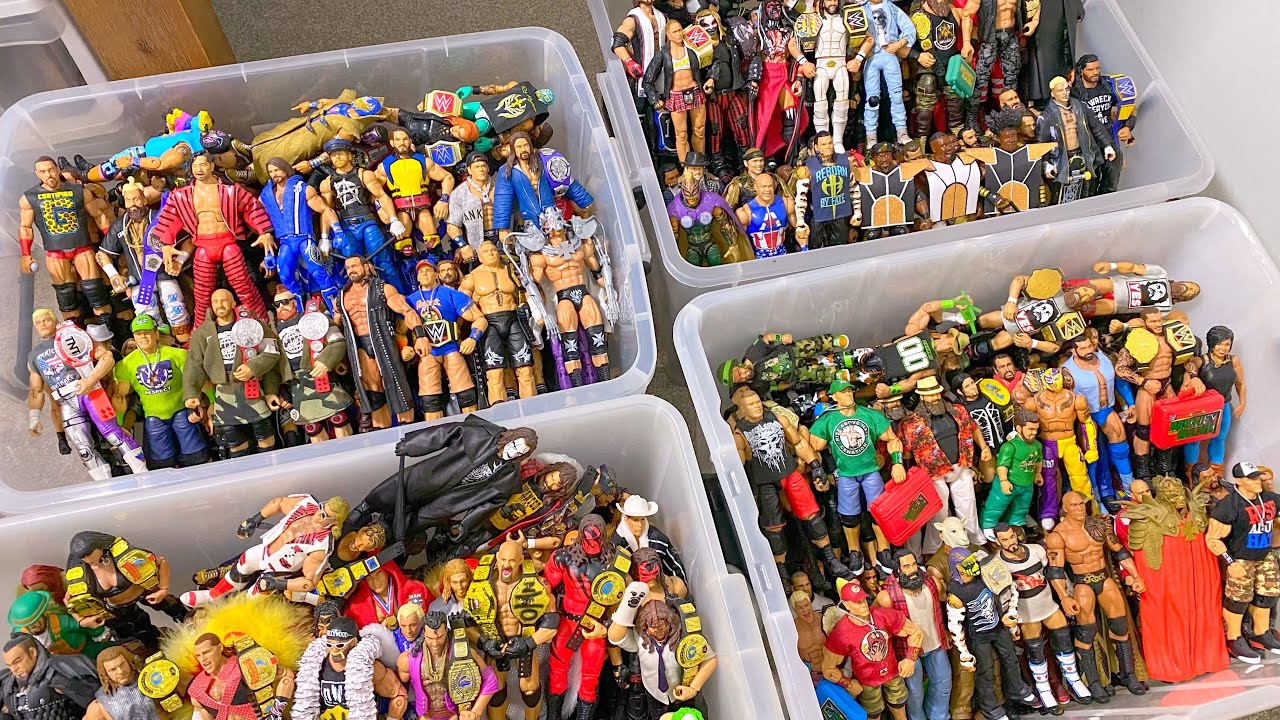 MASSIVE BOXES FULL OF WWE ACTION FIGURES!