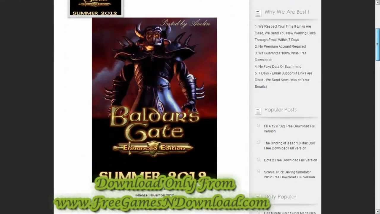 Baldur's Gate: Enhanced Edition Free Game Download - Free