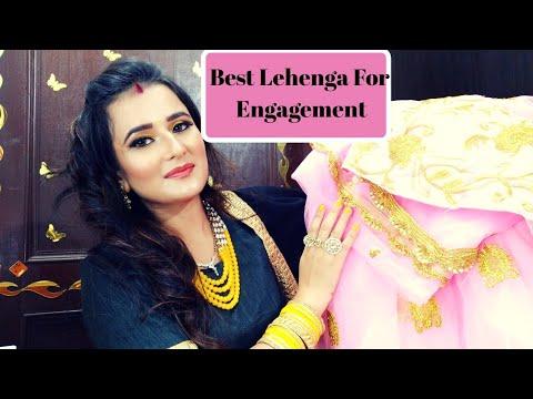 Best Affordable Lehenga For Engagement Functions /SWATI BHAMBRA