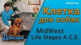 Клетка для собак и животных MidWest Life Stages A.C.E. две двери