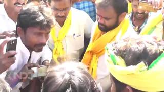 Revanth Reddy and Kancharla Bhopal Reddy Raithu Poru Padyathra from Narketpalli to Nalgonda