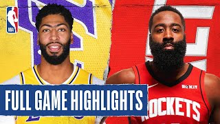 LAKERS at ROCKETS FULL GAME HIGHLIGHTS | August 6, 2020