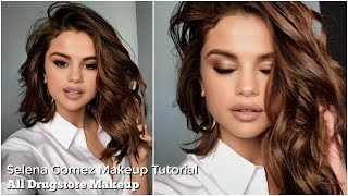 Selena Gomez Makeup Tutorial | All Drugstore Makeup