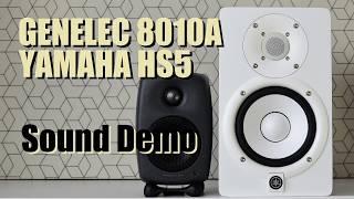 genelec 8010A (Genelec G One) vs Yamaha HS5    Sound Demo w/ Bass Test