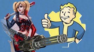 Fallout 4 Харли Квин с миниганом 3
