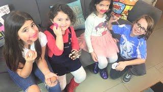 Poyraz Karayel Dizisinden Ataberk Junior Park Zeynepe Ve Bize Makyaj Yaptı
