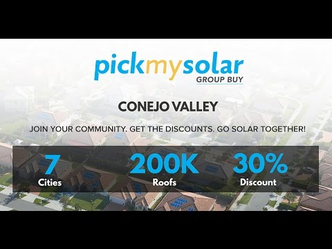Pick My Solar is Coming to the Conejo Valley