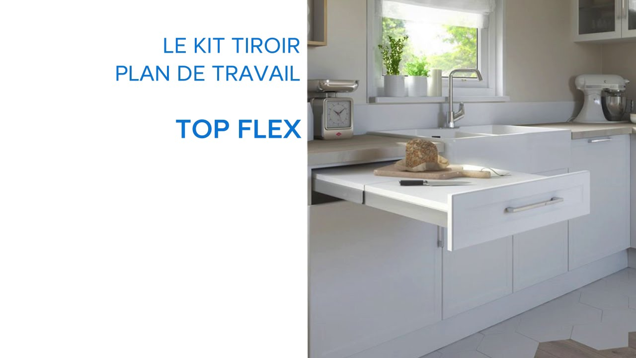 kit tiroir plan de travail topflex 679075 castorama youtube. Black Bedroom Furniture Sets. Home Design Ideas