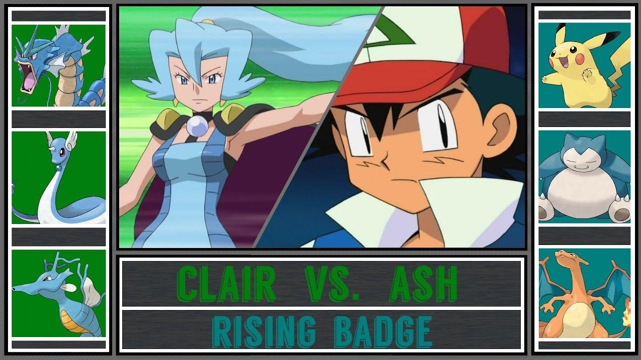 Ash Vs Clair Pokémon Sun Moon Blackthorn Gym Rising Badge Johto Battle