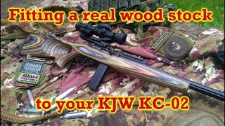 Repeat youtube video Fitting a real wood stock to your KJW KC-02