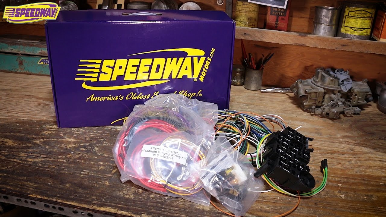 speedway tech talk unboxing wiring harness kits [ 1280 x 720 Pixel ]