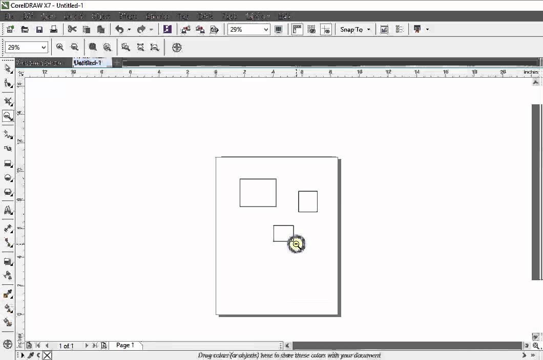 Coreldraw X7 Tutorials Zoom Tool Youtube