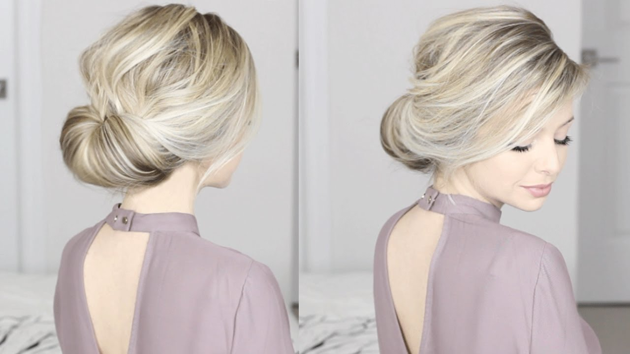 Easiest Updo Ever Super Simple Perfect For Long Medium Shoulder Length Hair You