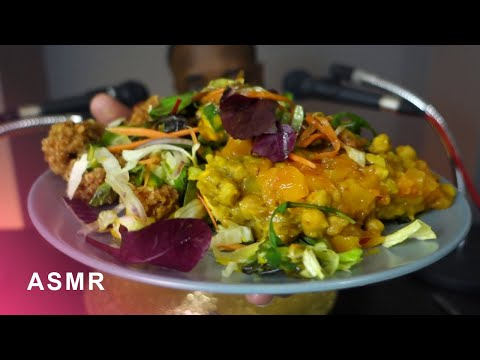 ASMR Salt Fish Fritters + Salt & Pimento Squid + Doubles & Chick Pea Pumpkin Curry (No Talking)