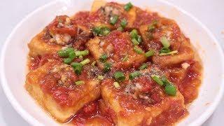 CÁCH LÀM ĐẬU HỦ DỒN THỊT heo sốt cà chua đơn giản cho bữa cơm gia đình   Zui Vào Bếp