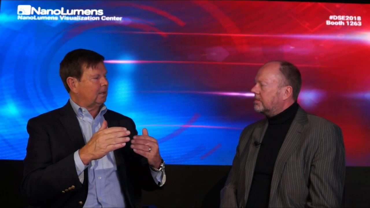 NanoLumens #DSE2018 interview with Rick Cope
