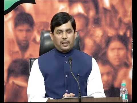 Press Conference by Syed Shahnawaz Hussain at BJP HQ : 10.09.2016