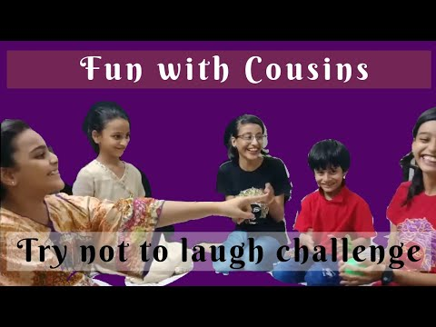 Fun time with cousins - try not to laugh challenge