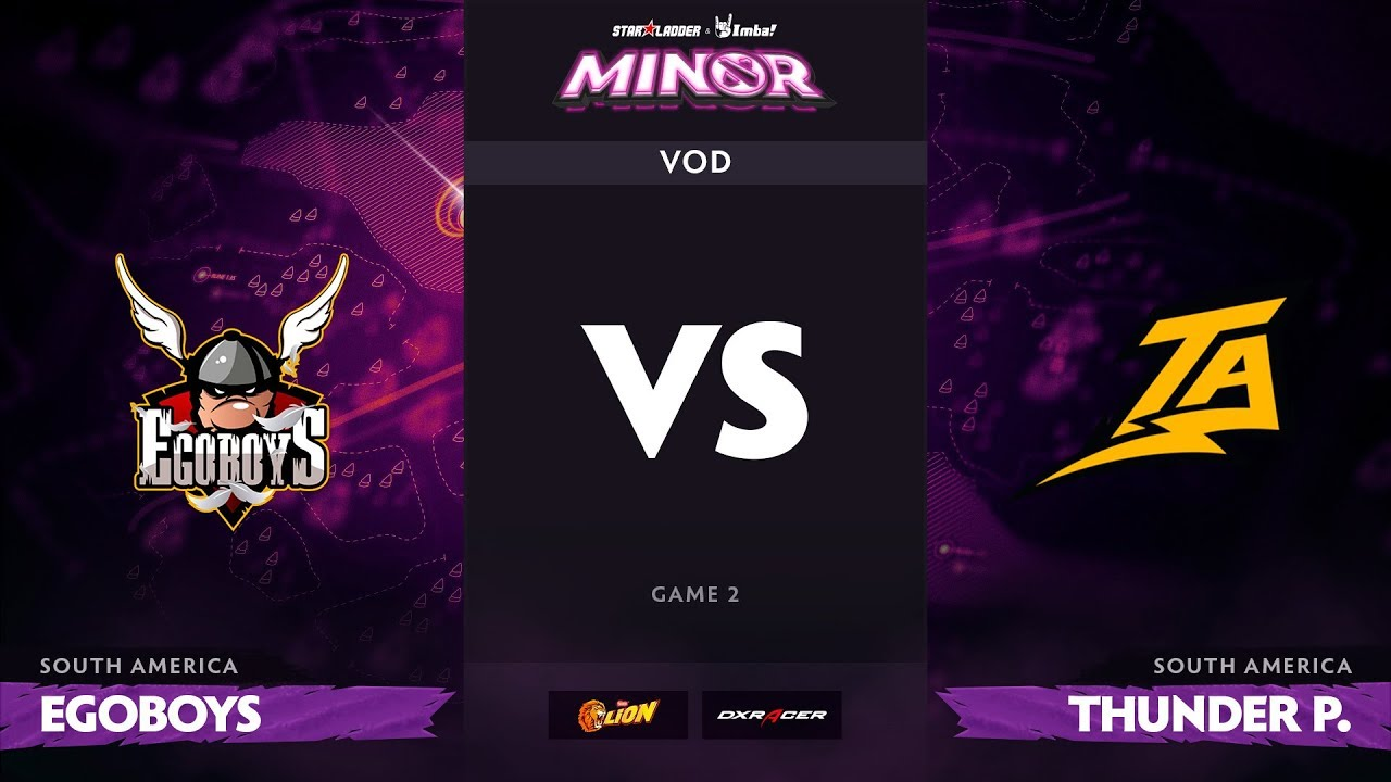 [RU] EgoBoys vs Thunder Predator, Game 2, StarLadder ImbaTV Dota 2 Minor S2 SA Qualifiers