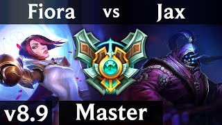 FIORA vs JAX (TOP) ~ KDA 13/1/7, Godlike ~ Korea Master ~ Patch 8.9