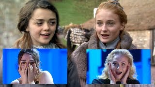 Sophie Turner and Maisie Williams FREAK OUT Watching Clips of Their Younger Selves