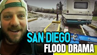 Navigating San Diego Floods & Race Back To Texas Full Time RV Living On The Road