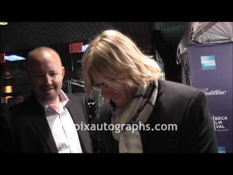 Ron Eldard  Signing Autographs at the Tribeca Film Festival in NYC