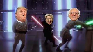 Trump VS Hilary [STAR WARS] Obi Wan & Qui Gon Ginn Vs Darth Maul PARODY