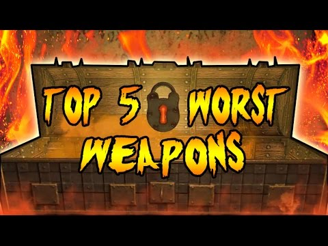 Top 5 WORST Mystery Box Weapons! Call of Duty Black Ops 3 Zombies, Black Ops 2 & WAW Zombies TOP 5
