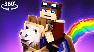 RAINBOW FARTING LLAMA'S?! - The Wishing Cake - Minecraft 360° Video