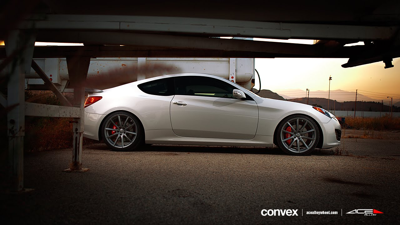 Hyundai Genesis Coupe On 20 Quot Ace Convex Wheels Rims Youtube